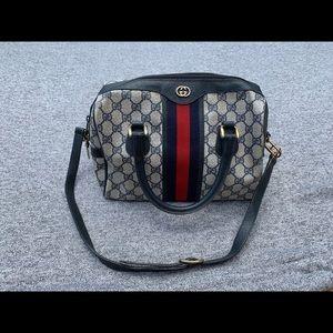 Classic Gucci Bag Blue Red Stripe GG Monogram